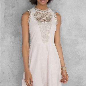 Francesca's Taupe Suede Dress